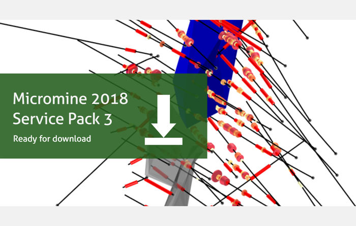 Micromine 2018 Service Pack 3 is now available to download